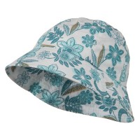 Bucket - Turquoise Youth Floral Bucket Hat