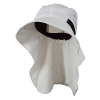 Flap Cap - White Moisture Management Flap Cap
