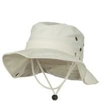 Outdoor - Beige Youth Brushed Aussi Bucket Hats