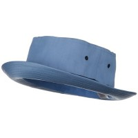 Bucket - Sky Navy Sky Big Size Roll Up Bucket Hat
