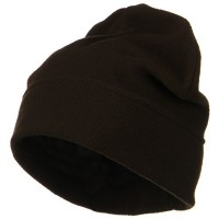 Beanie - Brown Big Size Fleece Beanie Hat