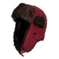 Trooper - Red New Suede ML Winter Trooper Hat | Coupon Free | e4Hats.com