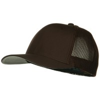 Ball Cap - Brown 6 Panel Trucker Flexfit Cap