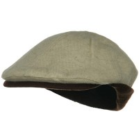 Ivy - Natural Brown Knitted Flap Wool Ivy Cap
