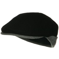 Ivy - Black Grey Knitted Flap Wool Ivy Cap