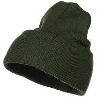 Beanie - Olive Stretch ECO Cotton Long Beanie
