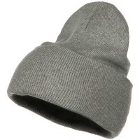 Beanie - Grey Stretch ECO Cotton Long Beanie