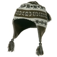 Beanie - Brown Girl's Knit Helmet