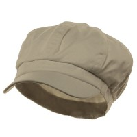 Newsboy - Stone Cotton Elastic Newsboy Cap
