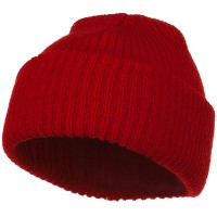 Beanie - Red Solid Plain Watch Cap Beanie | Coupon Free | e4Hats.com