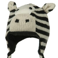 Costume - Zebra Toddler Animal Wool Ski Hat
