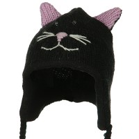 e4Hats.com: Toddler Animal Wool Ski Hat - Kittie