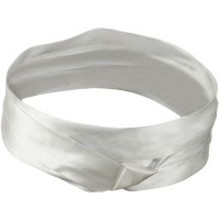 Band - White Silk 3 Pleat Fashion Band