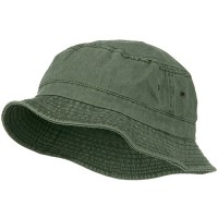 Bucket - Olive Big Size Washed Hat | Coupon Free | e4Hats.com