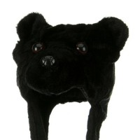 Costume - Black Bear Plush Animal Hat