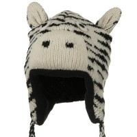 Costume - Zebra Punk Monkey Wool Ski Beanie