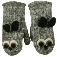Glove - Owl Child Animal Wool Mitten
