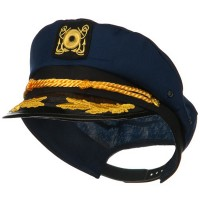 Costume - Navy Adult Cotton Yacht Emblem Cap