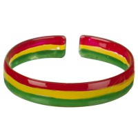 Jewelry - Plastic RGY Rasta Plastic Bangle