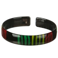Jewelry - Black Rasta Plastic Bangle