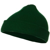 Beanie - Forest Green Infant Knit Cuff Beanie