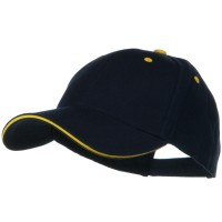 Ball Cap - Navy Gold New Wool Sandwich Bill Caps