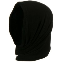 Face Mask - Black Motley Tube Fleece Spandex