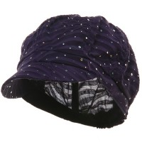 Newsboy - Purple Glitter Newsboy Cap