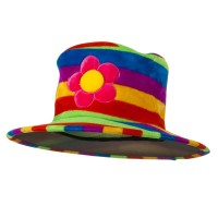 Costume - Rainbow Rainbow Velvet Tall Top Hat