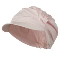 Newsboy - Pink UV 50+ Cotton Pleated Hat