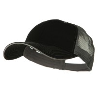 Ball Cap - Black Grey Big Size Washed Cotton Mesh Cap