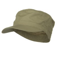 Cadet - Khaki Big Size Cotton Ripstop Army Cap | Coupon Free | e4Hats.com