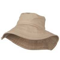 Dressy - Peach Wide Brim Ladies Linen Hat