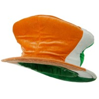 Costume - Orange White Green Irish Madhatter Velvet Top Hat
