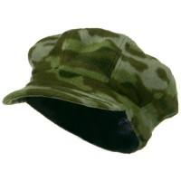 Newsboy - Green Camo Fleece Newsboy Hat
