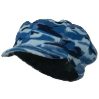 Newsboy - Blue Camo Fleece Newsboy Hat