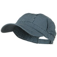 Cadet - Blue White Big Size Stripe Denim Caps | Coupon Free | e4Hats.com