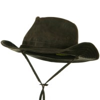 Outdoor - Brown UPF 50+ Weathered Outback Hat | Coupon Free | e4Hats.com