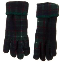 Glove - Green Plaid Fleece Winter Glove