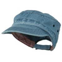 Cadet - Pinstripe Enzyme Frayed Army Cap