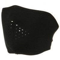 Face Mask - Black Oversized Neoprene Half Mask