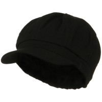 Newsboy - Black Cotton Elastic Youth Cap