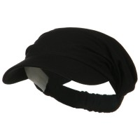 Visor - Black Cotton Elastic B, Visor