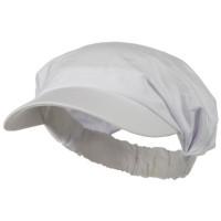 Visor - White Cotton Elastic B, Visor