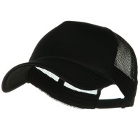 Ball Cap - Black Big Size Foam Mesh Truck Cap