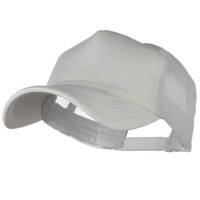 Ball Cap - White Big Size Foam Mesh Truck Cap