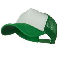 Ball Cap - White Kelly Big Size Foam Mesh Truck Cap
