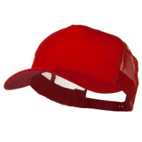 Ball Cap - Red Big Size Trucker Mesh Cap