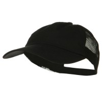 Ball Cap - Black Black Big Size Low Profile Cotton Cap