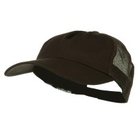 Ball Cap - Brown Brown Big Size Low Profile Cotton Cap
